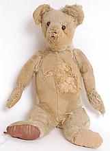 A rare circa 1904 / 1905 believed Steiff golden mohair teddy bear. Having large pronounced snout and