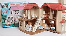 SYLVANIAN FAMILIES: Original Sylvanian Willow Hall Mouse Family. Contents to include various accesso
