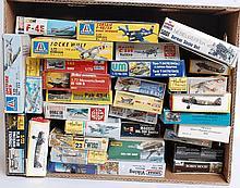 MODEL KITS: 30+ model kits - Hat, Attack, Heller, Esci, UM, Revell, Italeri etc.  From a large consi