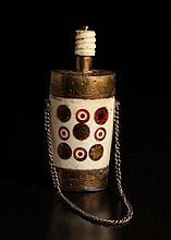 Tibetan Bone & Inlaid Snuff Bottle
