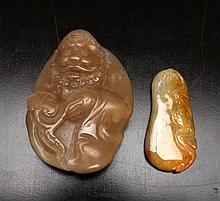 2 Chinese Jade Carvings