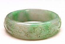 Chinese Carved Jade Bangle