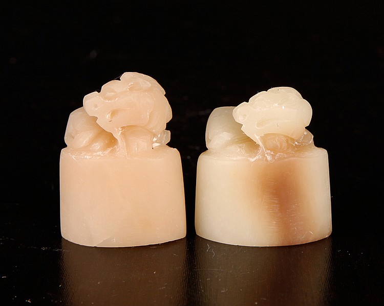 Pair of Chinese Shoushan Fu Rong Seals
