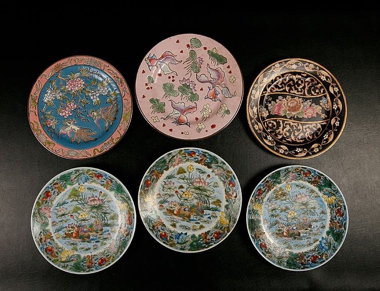 6 Asian Porcelain Plates