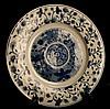 Chinese Kangxi Blue & White Porcelain Plate