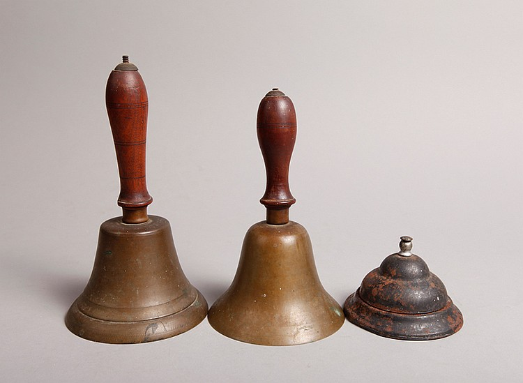 Grouping of 3 Antique Bells