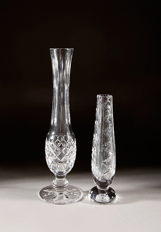2 Waterford Crystal Bud Vases