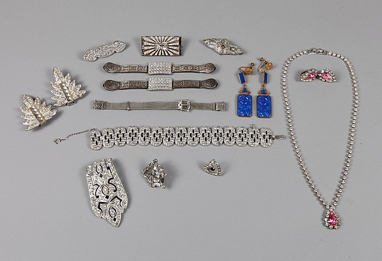17 Piece Art Deco Jewelry