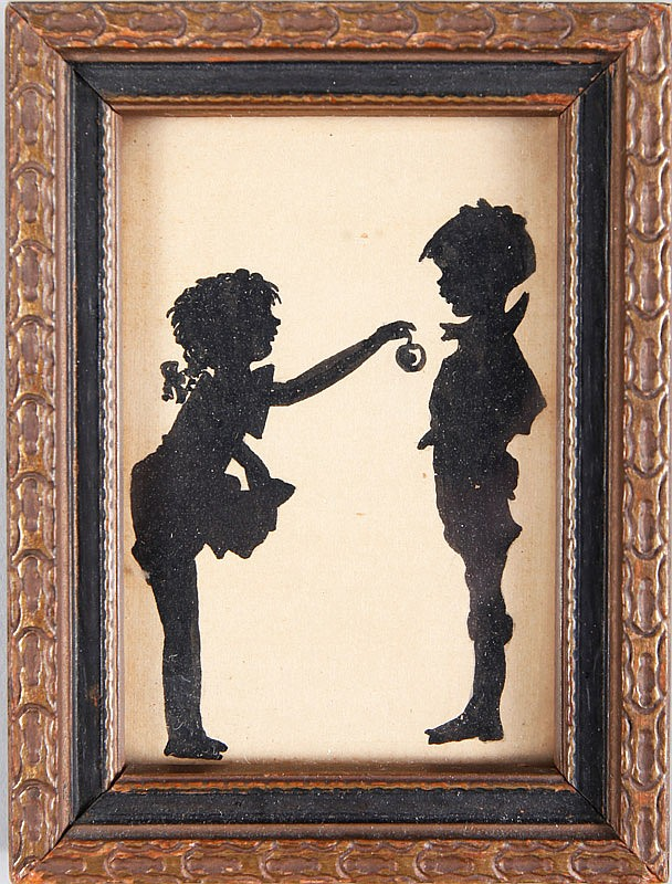 Miniature Silhouette of Children