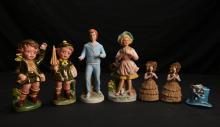 7 Vintage Porcelain Figures