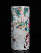 Chinese Famille Rose Porcelain Hat Stand