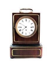 20th century walnut desk clock