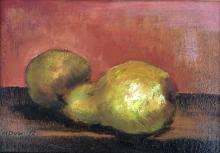 Framed, Pears Oil Painting on Canvas, 1972