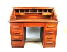 Vintage Oak S Roll Top Desk