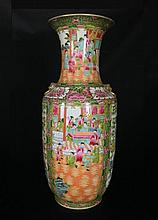 Chinese Rose Medalion Porcelain Tall Floor Vases