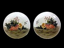 Chinese Early 20th C Famille Rose Porcelain Saucers.