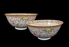 Pair of Chinese 18th C /19th C DaoGuang Famille Rose