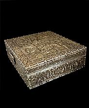 20th C Antique Chinese Export Silver Rectangular