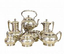 Tiffany & Co. 7 (Seven) Pieces Sterling Silver Tea and