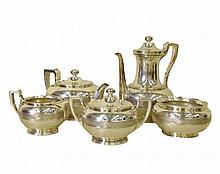 Tiffany & Co 5 (Five) Pcs Tiffany Tea Service, 95 Troy