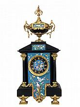Fabulous French Slate & Cloisonn? Mantel Clock