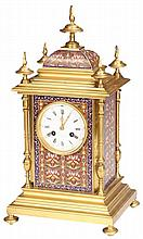 TIFFANY & CO., NEW YORK CHAMPLEVE CLOCK