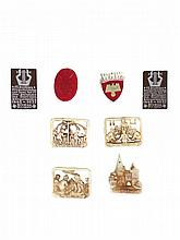 WWII GERMAN PARTY BADGE PIN TINNIE LOT, 8 pcs
