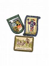 WWII GERMAN PARTY BADGE PIN TINNIE LOT, 3 pcs