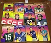 1970 Topps Glossy Football Lot of 12 - Unitas, Starr, Tarkenton, Griese