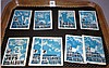 1969 Topps Football Mini Card Stamps Album Lot of 9