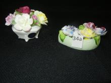 Royal Doulton Bone China Flower Figurine & Ardon England Bone China Flower Figurine
