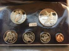 1973 First Official Coinage of the British Virgin Islands Proof Set Minted by the Franklin Mint
