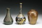 Three (3) Chinese Antique Bronze & Cloisonne Vases