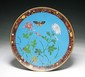 A Japanese Antique Cloisonne Bronze Plate