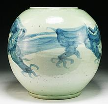 A Massive Chinese Antique Blue & White Porcelain Jar