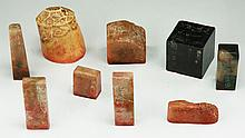 Nine (9) Chinese Soapstone Seals