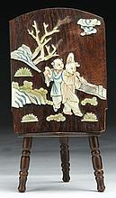 A Chinese Antique HUANGHUALI Table Screen