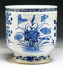 A Chinese Antique Blue & White Porcelain Pot