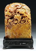 A Fine Chinese Antique Shoushan Soapstone Seal