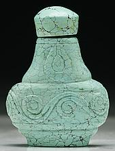 A Chinese Antique Turquoise Snuff Bottle