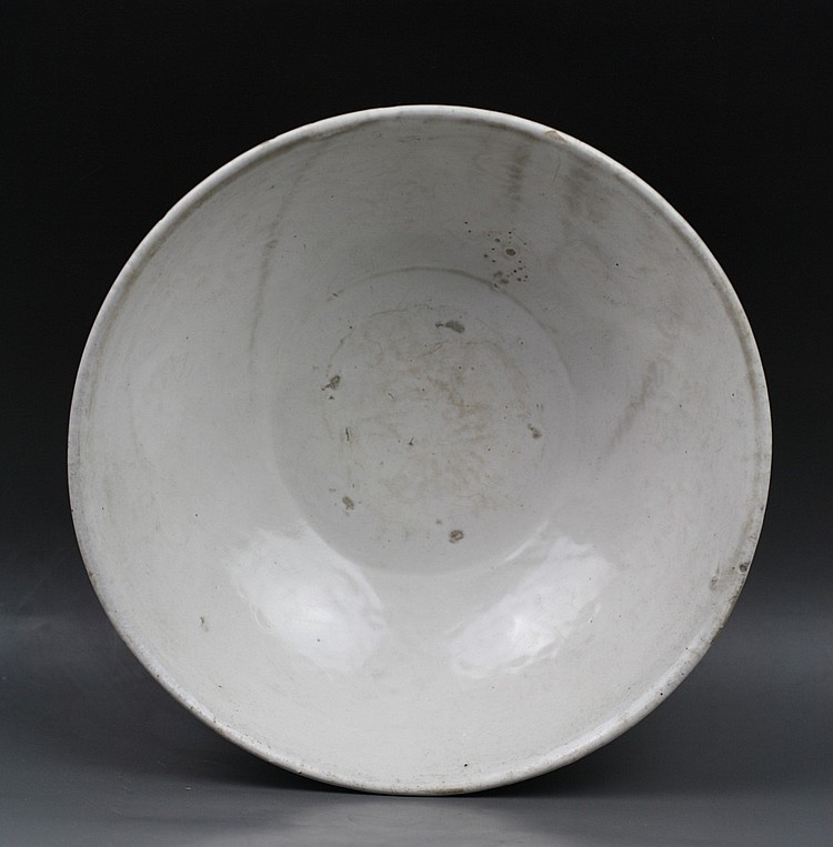 Chinese White-Glazed Ding-Type Bowl