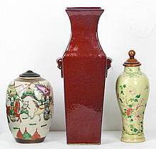 Three (3) Chinese Porcelain Vases