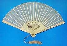 A Fine Chinese Antique Export Ivory Fan