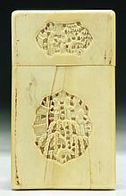 A Chinese Antique Export Ivory Card Case