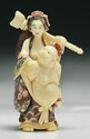 A Japanese Antique Carved Ivory Shunga