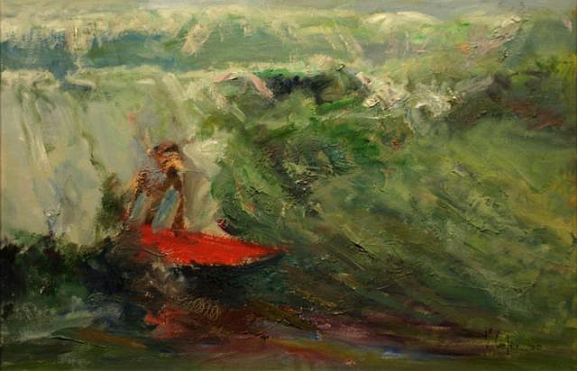 Vittorio Cirefice The Big Wave Oil 61 x 91.4 cms