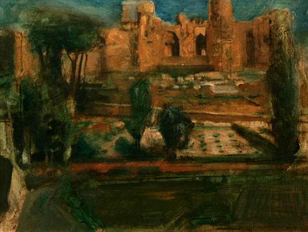 Noel Murphy The Forum, Rome Oil 35.6 x 45.7 cms