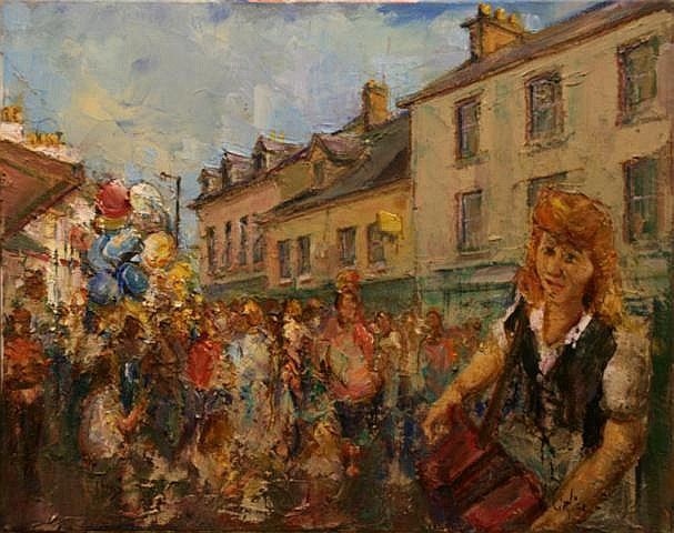 Vittorio Cirefice Streets Alive with Music Oil on