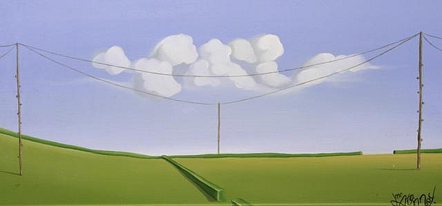 John McAtamney Road to Coleraine(iv), 2008 Oil on