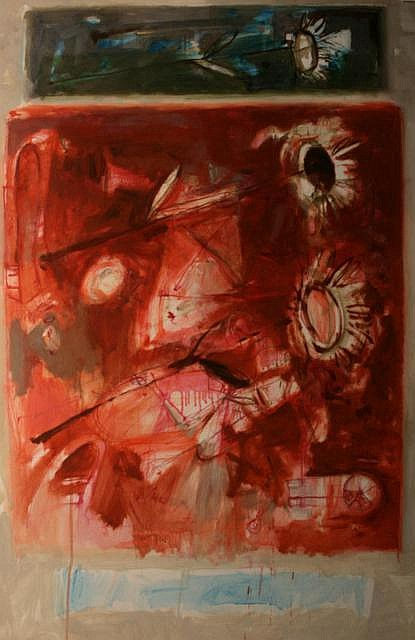 Noel Murphy Three Flowers Mixed Media on paper 122